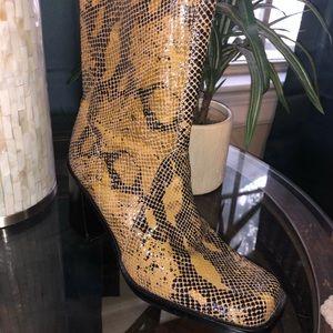 Bass snakeskin boots
